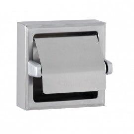 Porte-papier toilette en applique avec capot