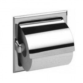 Porte-papier toilette encastré avec capot
